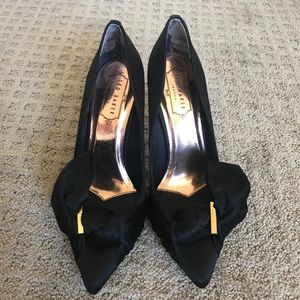Black Satin Heels - Ted Baker